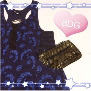 UO Blue Motif Tank by BDG